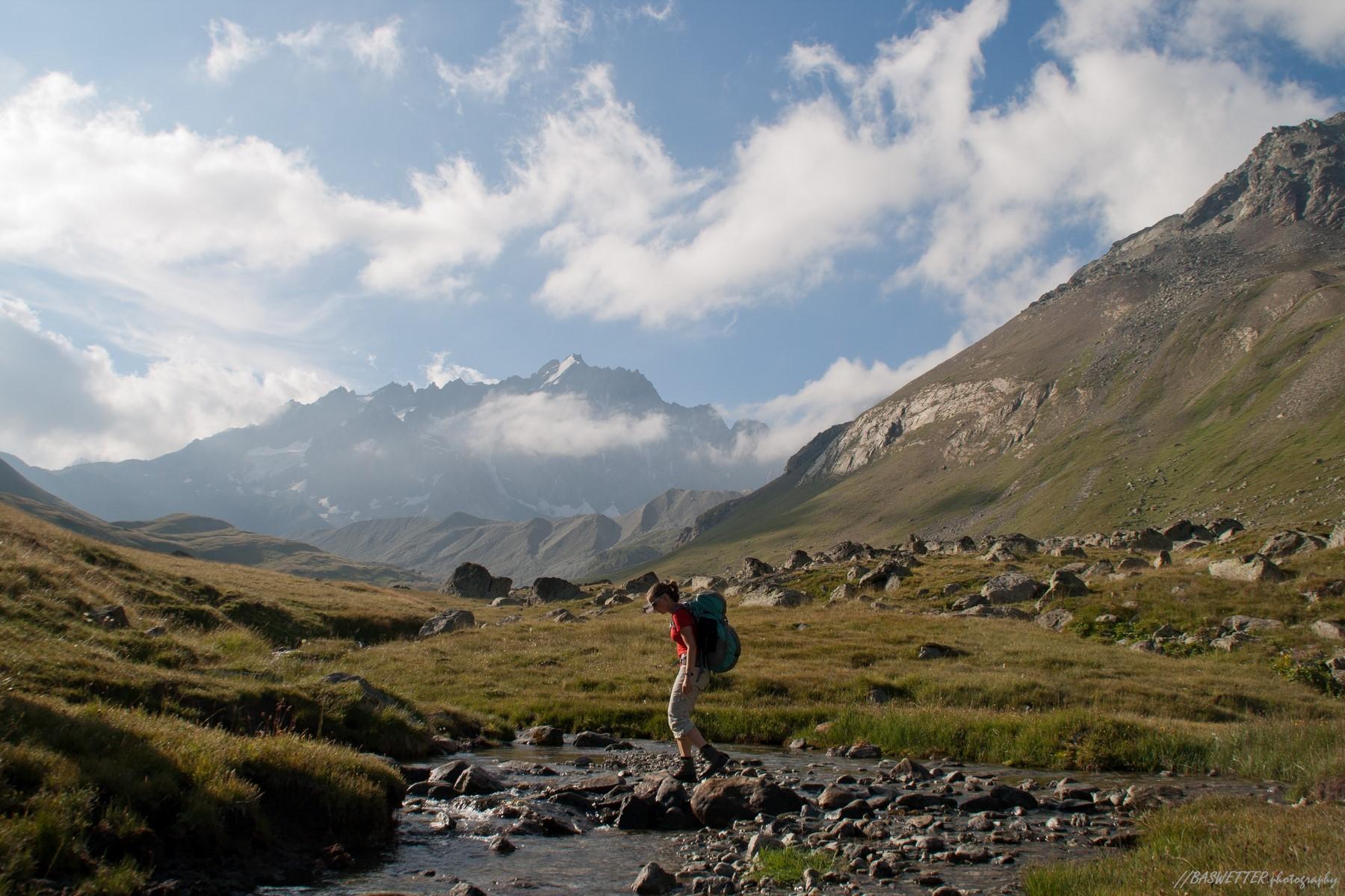 Wandeltrektocht door Nationaal Park Les Ecrins bij Grenoble in de Franse Alpen