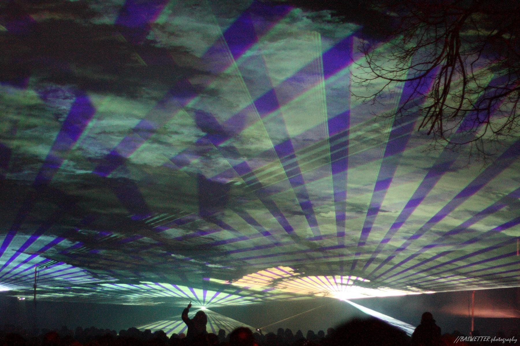 Lasershow op marktplein Wageningen