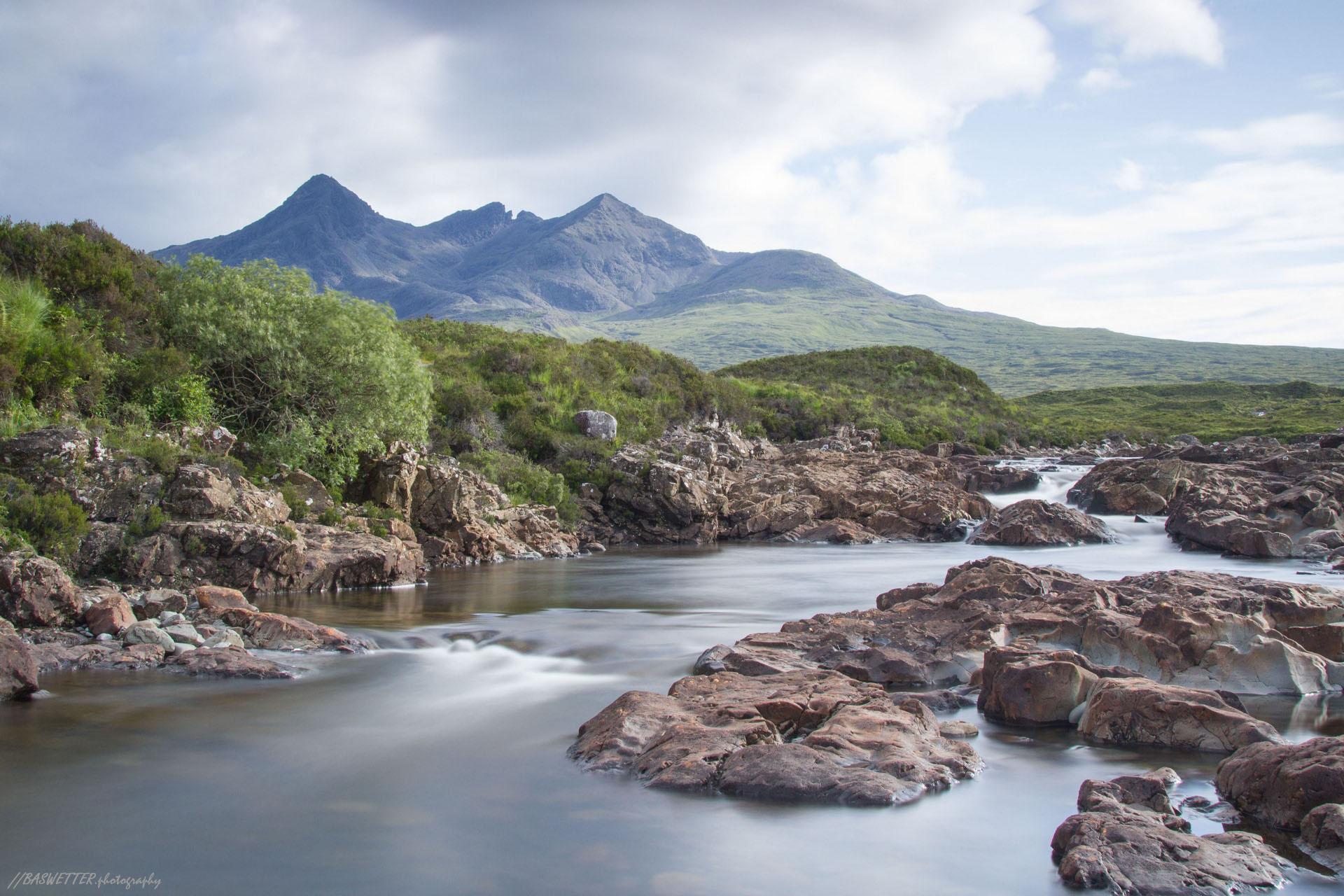 Sgùrr nan Gillean vanuit Sligachan op Isle of Skye