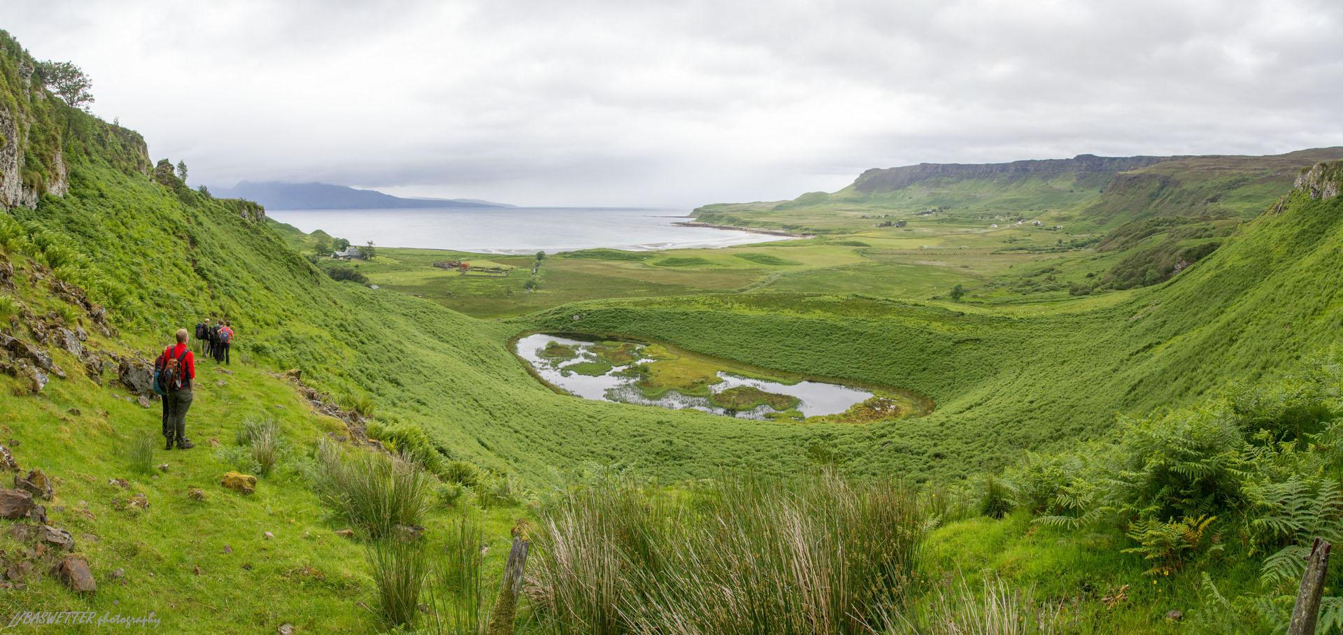 Zicht op Laig op Isle of Eigg