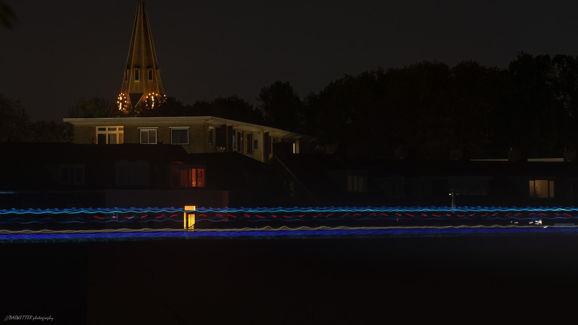 Hardloopwedstrijd 'Bergrace by night' van Wageningen naar Rhenen